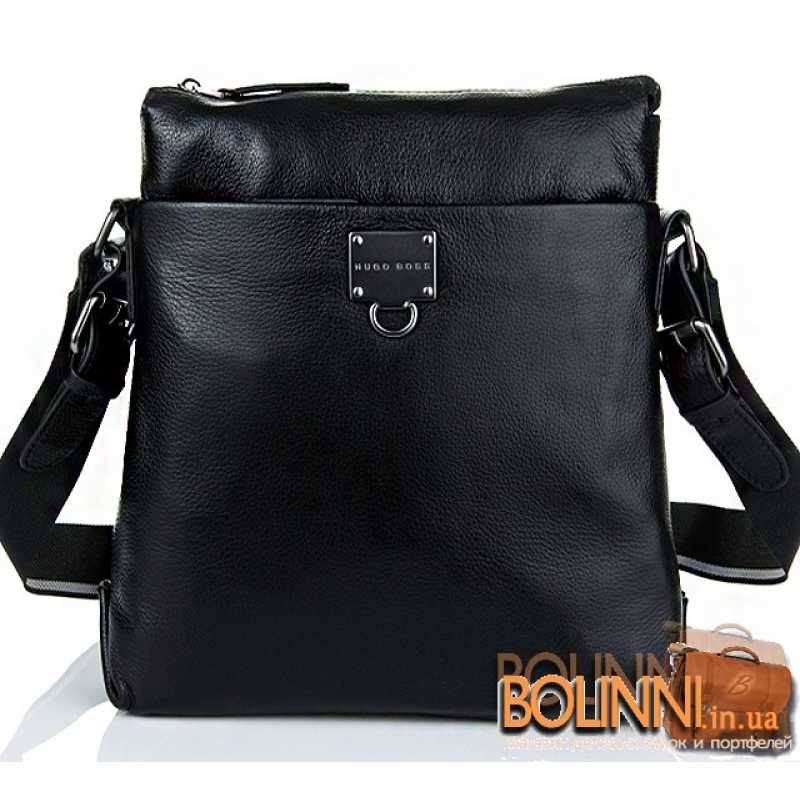 df9e81d803cb Брендовая средняя мужская кожаная сумка Hugo Boss