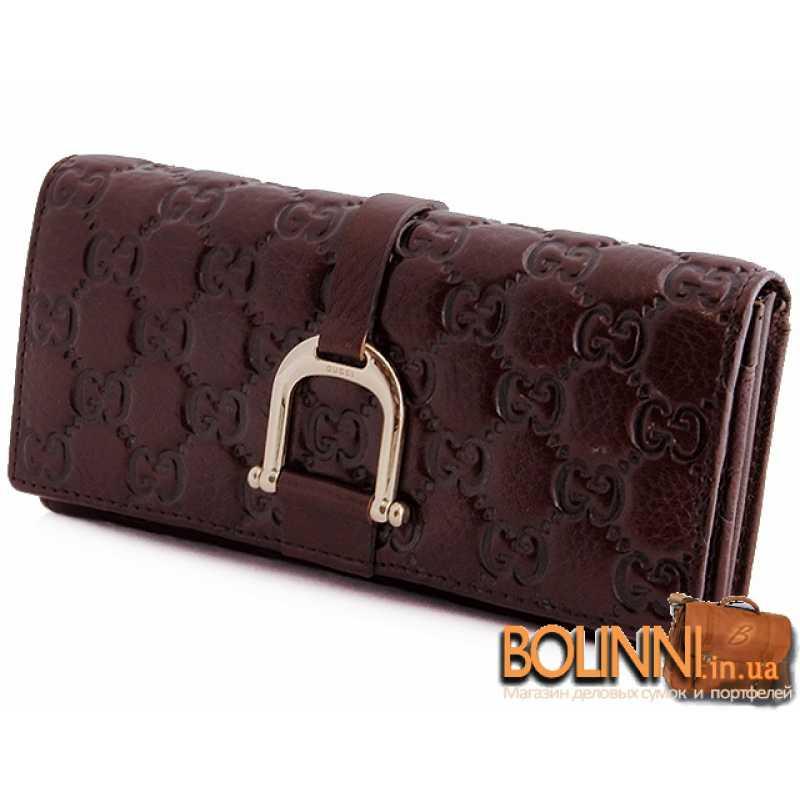 08eb9af26d77 Коричневый качественный женский кожаный кошелек Gucci