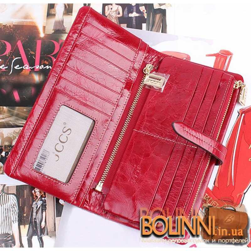 68788d7904cb Модный стильный женский кожаный красный кошелек JCCS