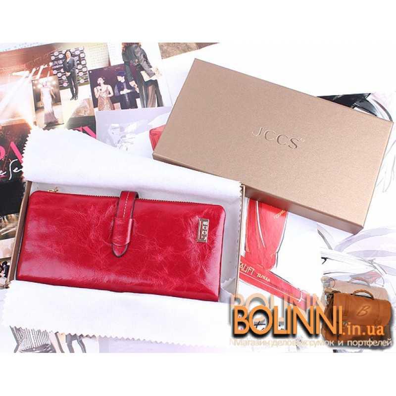 56ac59ce342d Модный женский красный кожаный кошелек JCSS Модный женский красный кожаный  кошелек JCSS ...
