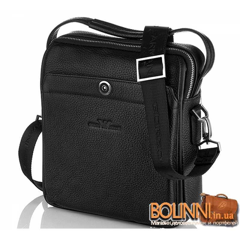 afafc265919f Кожаные брендовые мужские сумки через плечо ARMANI