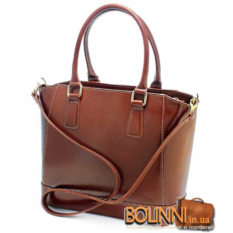 0aa80c2f3836 ... Итальянская женская кожаная каркасная сумка Vera Pelle ...