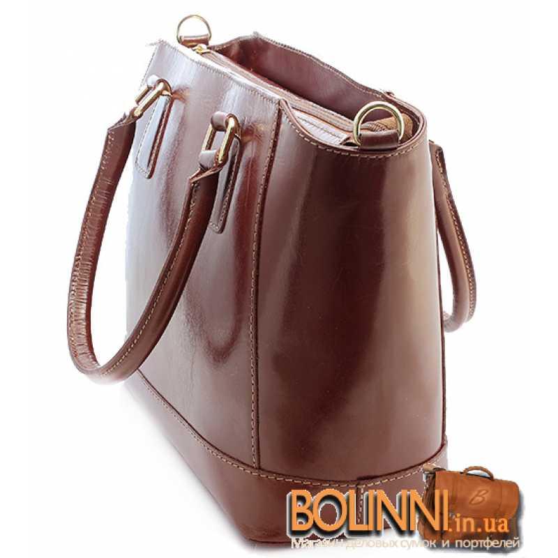 d841060b9a4a ... Итальянская женская кожаная каркасная сумка Vera Pelle