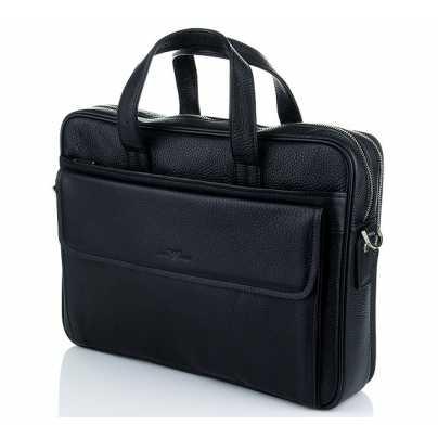 Сумка портфель мужская из кожи Armani