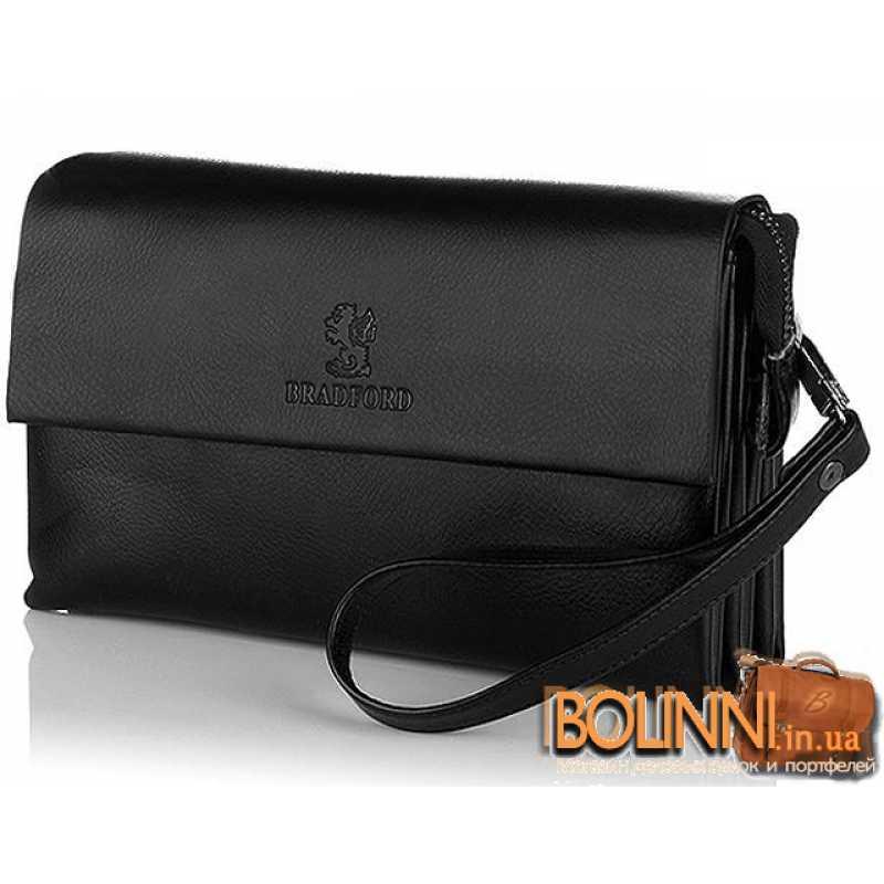 d653c2043557 Мужская барсетка сумка из натуральной кожи черная Fashion