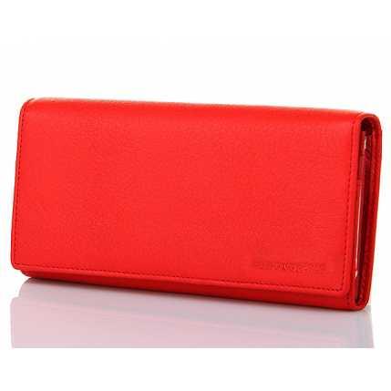 c6f23355cc28 Купить. Женский красный классический кожаный кошелек