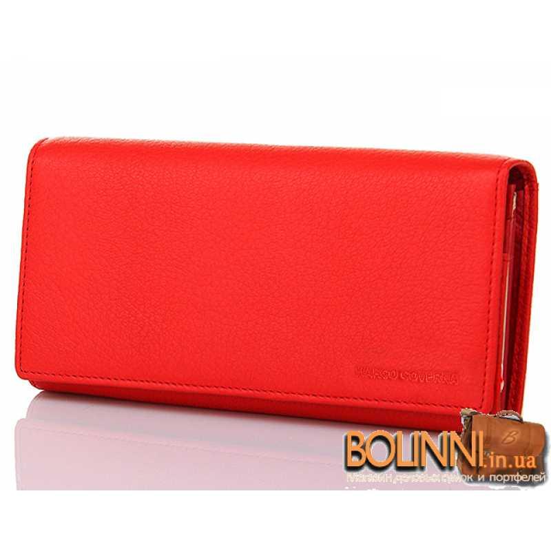 7630669ac2c1 Женский красный классический кожаный кошелек