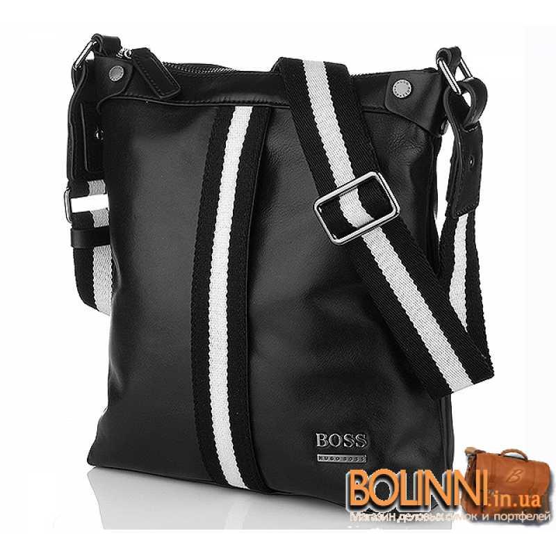 637f5183a9f3 Модная кожаная молодежная сумка без клапана Hugo Boss