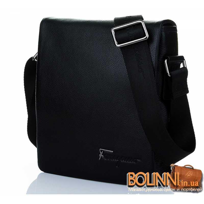 7721402a854b Мужская кожаная черная сумка Salvatore Ferragamo