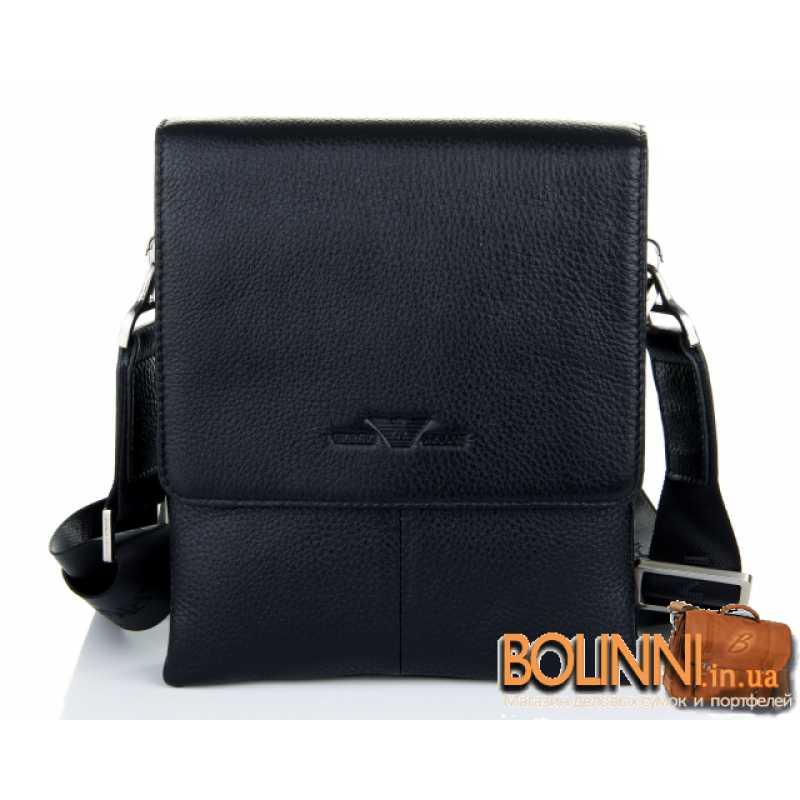 37b48c9c60b2 Мужская кожаная сумка среднего размера Armani