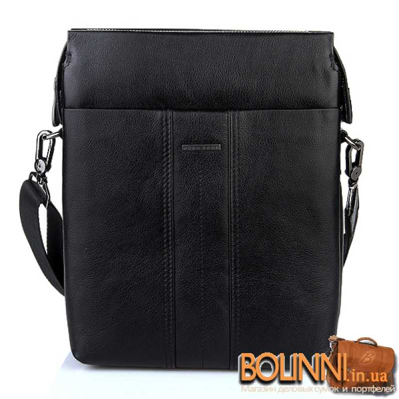 a7c65254ba4e ... Мужская кожаная сумка классика и стиль Hugo Boss ...