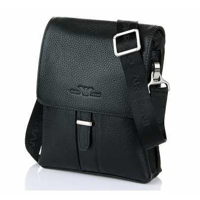 Мужская брендовая кожаная сумка через плечо Armani afcab58b24d
