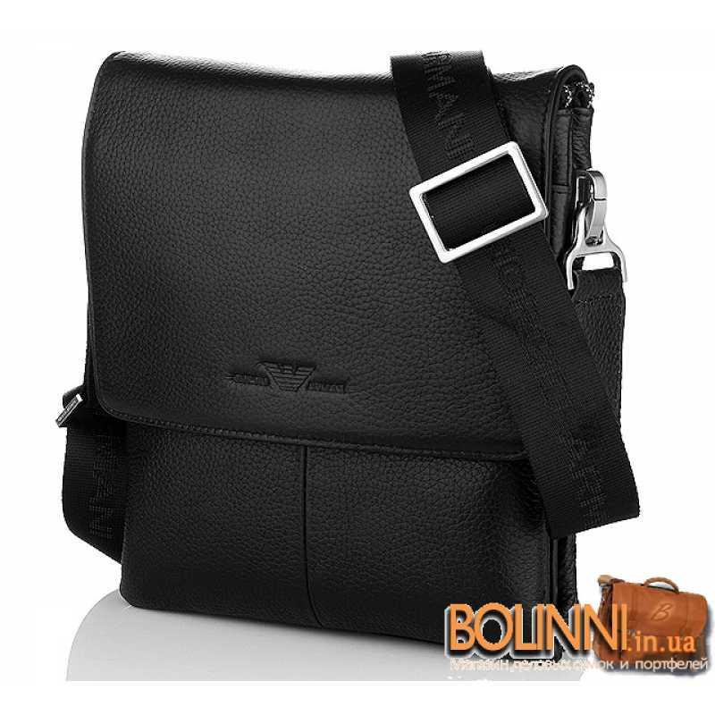 4224fd465253 Мужская брендовая кожаная сумка через плечо Armani