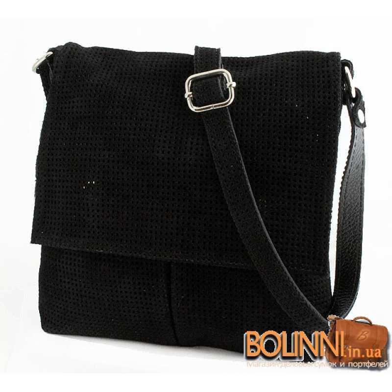 8c5936dcefcc Женская итальянская замшевая сумка Vera Pelle