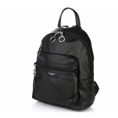 Женский модный рюкзак черного цвета DAVID JONES