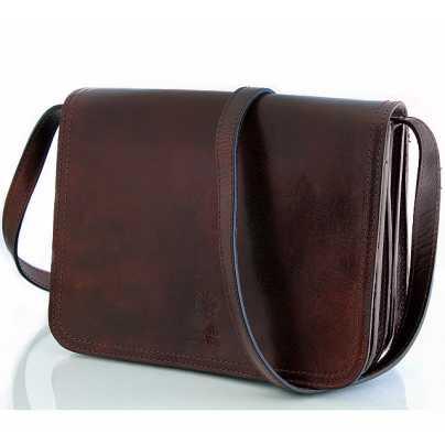 Горизонтальная мужская кожаная сумка Borsa in Pelle