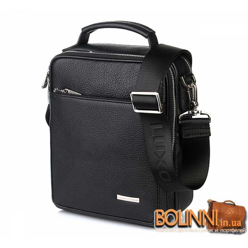 054938b824fc Удобная мужская кожаная сумка барсетка через плечо Luxon