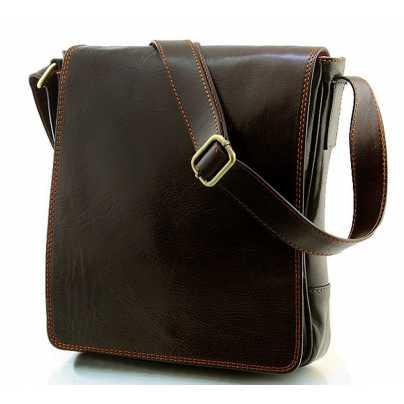 2877c13a9ab5 Мужская молодежная коричневая кожаная сумка Gucci