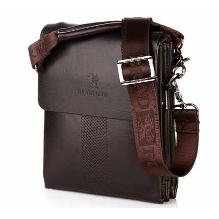 Классическая мужская коричневая сумка