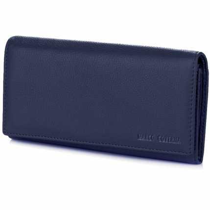 db17ac633ce3 Купить. Синий женский кошелек из мягкой кожи на магнитах