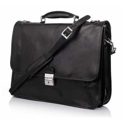 Дорогой мужской кожаный портфель Vera Pelle