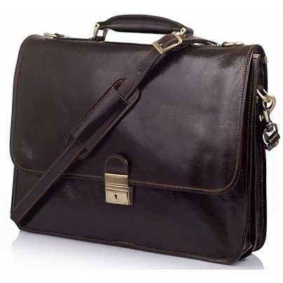 Итальянский мужской кожаный портфель Vera Pelle