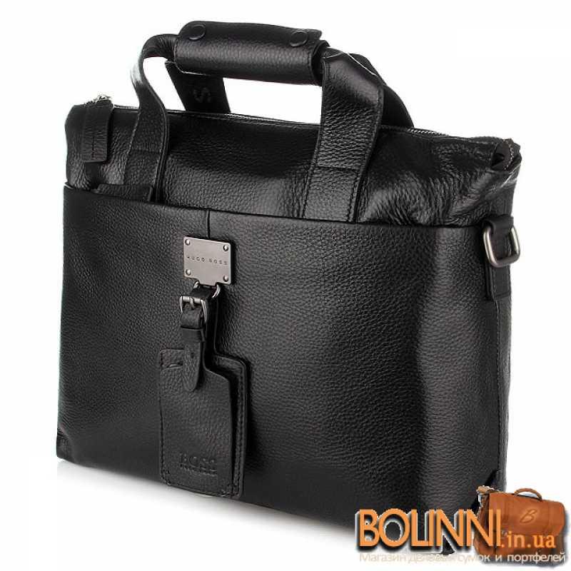 32f6164b0256 Мужская кожаная сумка с ручками HUGO BOSS
