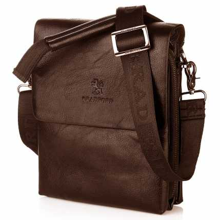 Недорогая молодежная сумка коричневого цвета Bradford
