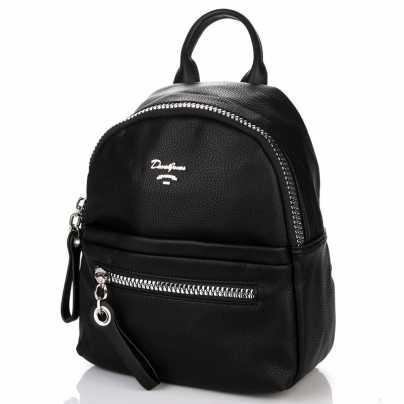 Рюкзак стильный черного цвета DAVID JONES
