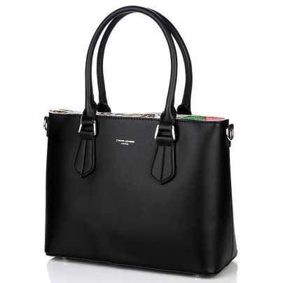 Черная классическая женская сумка DAVID JONES