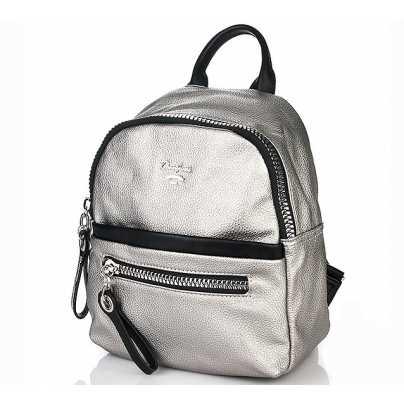 Женский рюкзак перламутровое серебро DAVID JONES