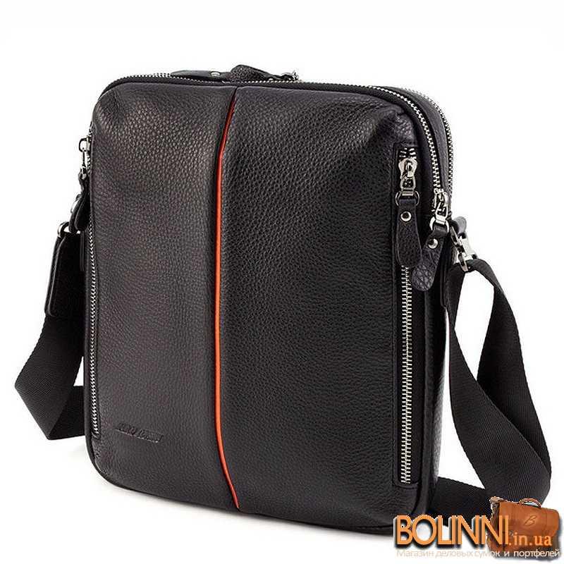 39a3064dc25a Кожаная молодежная мужская сумка через плечо M. Coverna