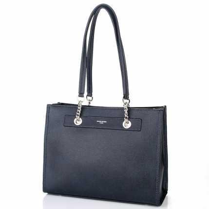 Женская сумка темно-синего цвета DAVID JONES
