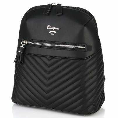 Рюкзак женский молодежный черного цвета David Jones