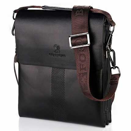 Классическая коричневая мужская сумка барсетка