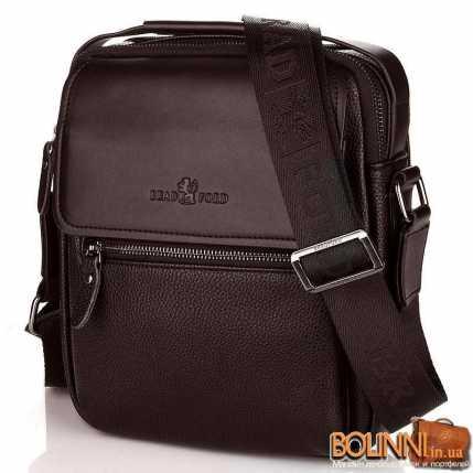 Коричневая мужская сумка через плечо
