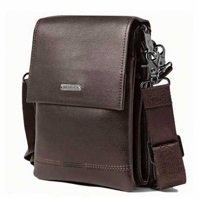 Коричневая мужская маленькая сумка